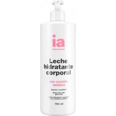 Interapothek Leche Hidratante Corporal Centella Asiática con Dosificador 750 Ml