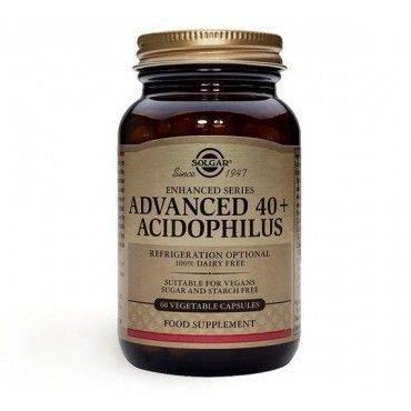 Solgar 40+Acidophilus Avanzado 60 Capsulas