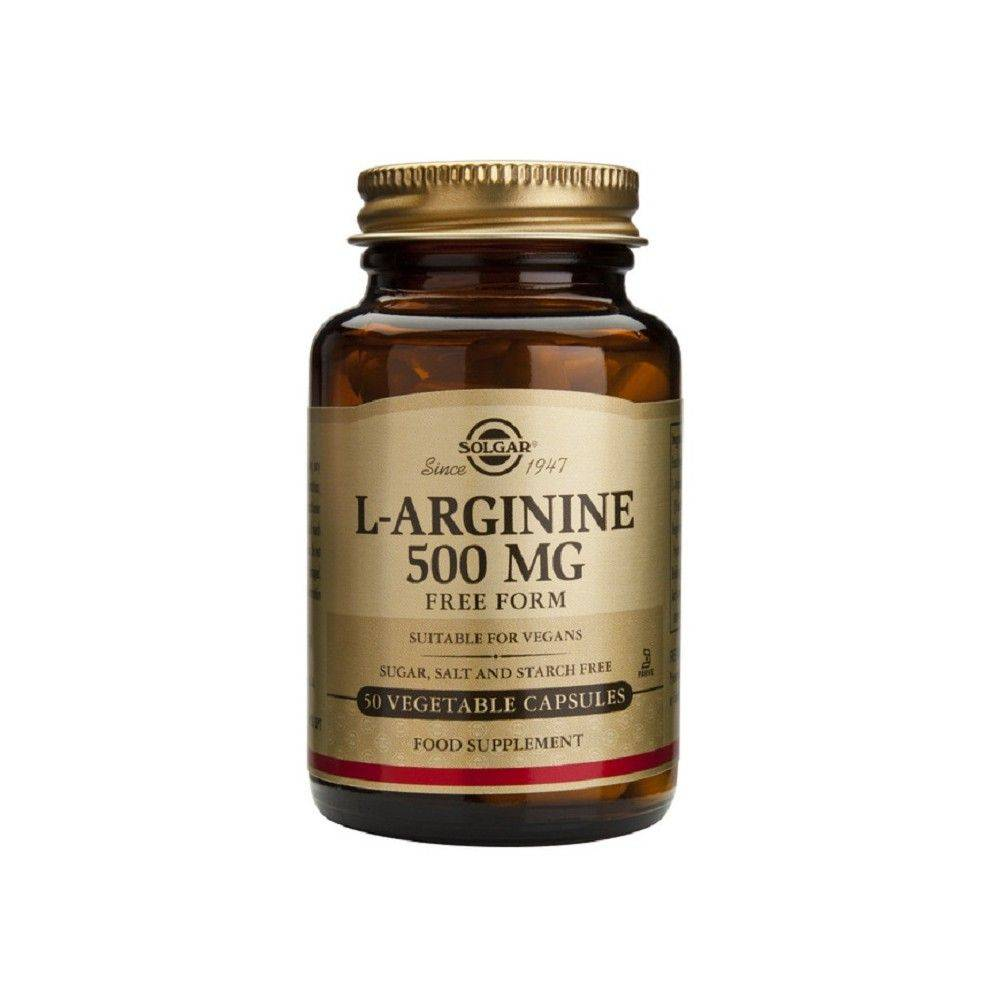 Solgar L- Arginina 500 Mg 50 Cápsulas