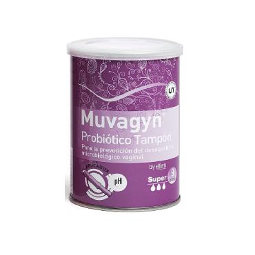 Muvagyn Probiótico Tampón Vaginal  Super Con Aplicador 9 Unidades