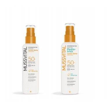 Mussvital Family Pack Locion Pediatric Spf50 200 Ml + Locion Spray Adultos Spf50 200 Ml