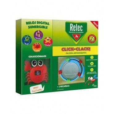Relec Pulsera Click-Clack + Regalo Reloj Cangrejo