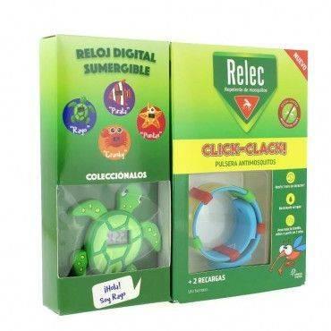 Relec Pulsera Click-Clack + Regalo Reloj Tortuga