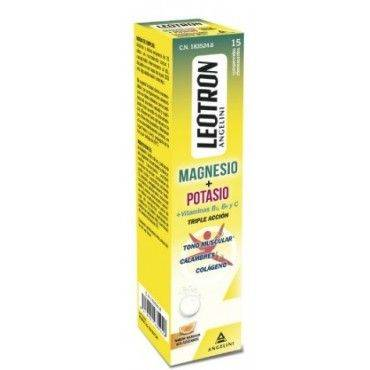 Leotron Magnesio + Potasio 15 Comprimidos Efervescentes