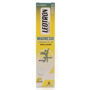 Leotron Magnesio 15 Comprimidos Efervescentes