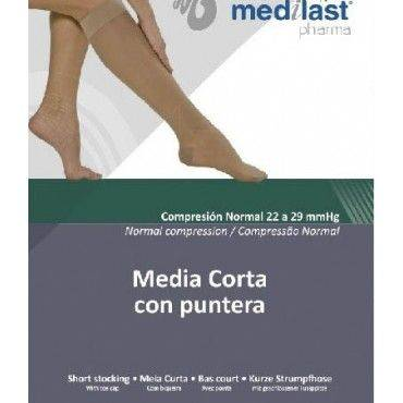 Medilast Media Corta Compresión Normal Con Puntera Talla M