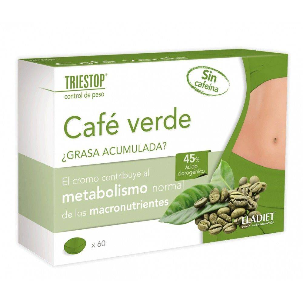 Eladiet Triestop Cafe Verde 60 Comprimidos