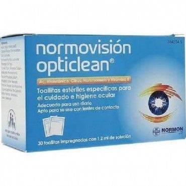 Normovision Opticlean 30 Toallitas Oculares