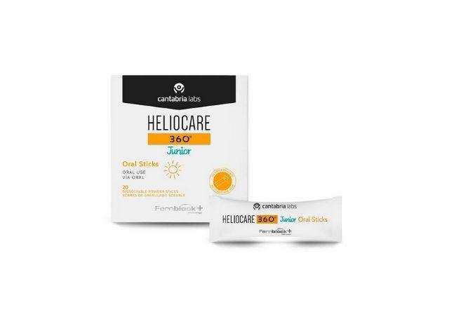 Heliocare 360º Junior Oral Sticks son unos sobres de sabor naranja