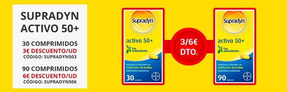 Promoción Supradyn Activo 50+ código descuento