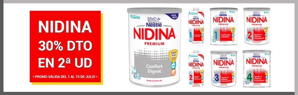 Promo Nidina 30% descuento en 2ª unidad