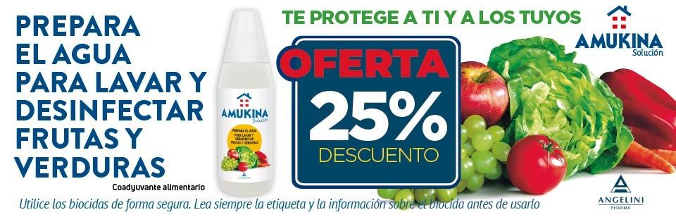 Oferta Amukina desinfección verduras y frutas