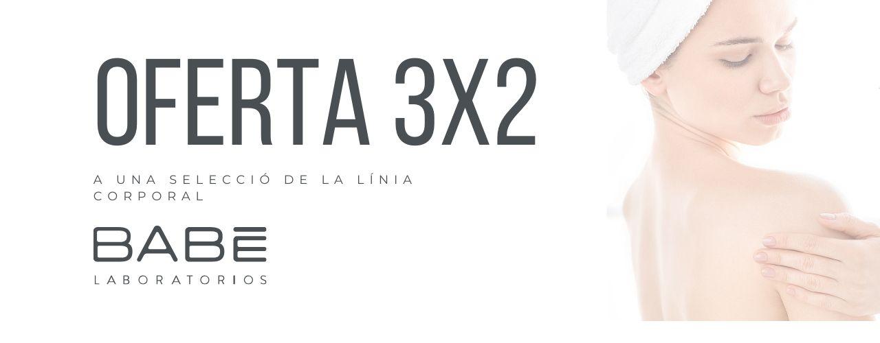 Oferta 3x2 en cuidado corporal Babé en El Boticario en Casa