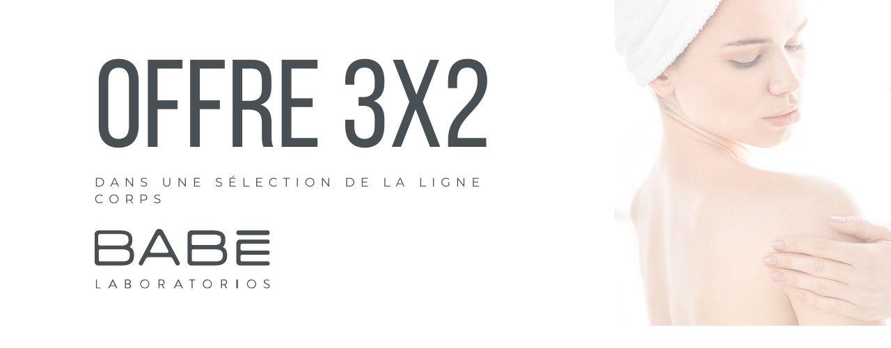 3x2 en cuidado corporal Babe en El Boticario en casa
